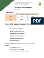 Ficha Artigos Definidos e Indefinidos