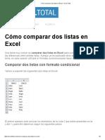 Cómo Comparar Dos Listas en Excel - Excel Total