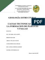 Monografia de Causas de Formacion de Pliegues y Fallas