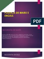 Politica de Marx e Engels