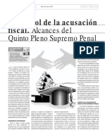 Alcances Del Quinto Pleno Supremo