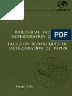 Biological factors in deterioration of paper (1985)
