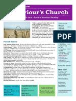 st saviours newsletter - 18 march 2018
