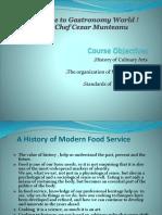 2.0.History,Organization and Professionalism of Culinary Arts