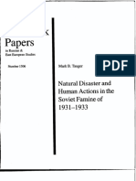 Tauger Natural Disaster and Human Actions in the Soviet Famine of 1931 33