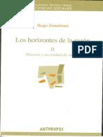 Los Horizontes de La Razon II. Historia y necesidad de utopía