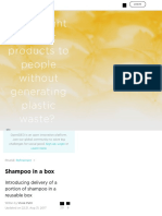 how might we get products to people without generating plastic waste  - shampoo in a box