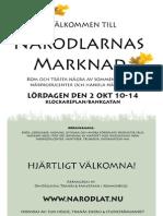 Närodlarnas Marknad affisch 101002 (Omställning Tranås)