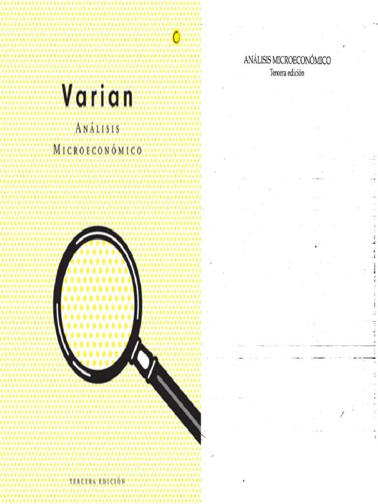 libro analisis microeconomico varian pdf