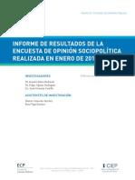 Informe Encuesta ENERO 2018