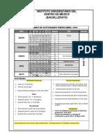 Calendarios Oficiales 2018 2018-2
