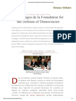 Les Trucages de La Foundation for the Defense of Democracies