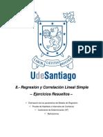 TAPA Regresión y Correlación Lineal Simple – Ejercicios Resueltos