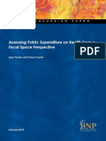 Assesing Public Expenditure Fiscal Space