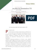 Le Nouveau Plan de Domination US, Par Pierre Khalaf