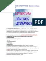 Los Generos Literarios
