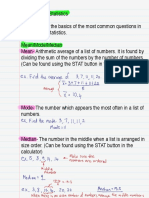 One Variable Statistics