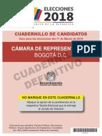 Lista Camara 2018