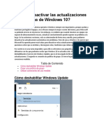 Desactivar Windows 10 Actualizaciones Automaticas