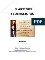 Os Artigos Federalistas Resumo