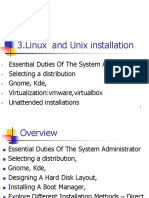 3.Linux and Unix Installation
