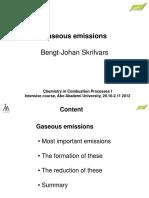 Gaseous Emissions FPK1 2012