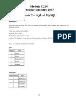 SQL Mysql Exercices