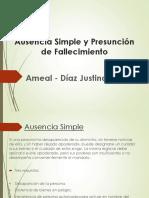 Ausencia Simple y Presuncion de Fallecimiento