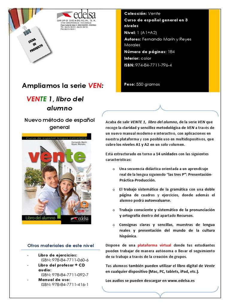 vente 1 libro del alumno pdf download gratis