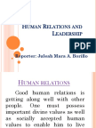 Human Relations and Leadership