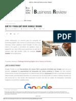 Qué Es y Para Qué Sirve Google Trends