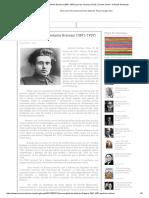 Sintese Biografica - Gramsci (1891-1937)