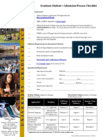 Graduate Student Checklist
