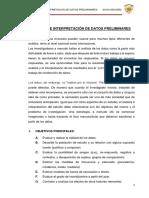 Análisis e Interpretación de Datos Preliminares