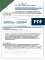 Senior PM Sample Resume PD