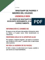 Uso Del Whatsapp de Padres y Madres Del Colegio2
