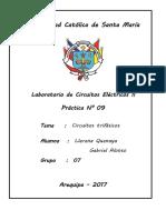 Informe eléctricos II N°09