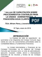 Powerpoint de Taller de Procedimientos Contables de Agua Clarita de Limo