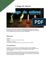 Cómo Hacer Fuego de Colores