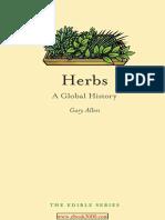Herbs - A Global History (Gary Allen)