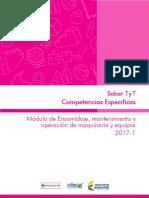 Ensamblaje Mantenimiento y Operacion de Maquinaria y Equipos TyT 2017
