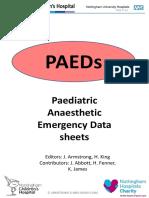 Paediatric Anaesthesia Handbook