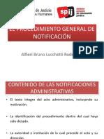 El Procedimiento General de Notificación