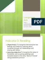 Step 2 Language Arts INDICATOR 3