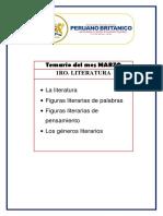 TEMARIO LITERATURA