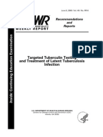 Targeted Tuberculin Testing and Treatment of Latent Tubercul