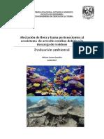 Afectación de Flora y Fauna Pertenecientes Al Ecosistema de Arrecife Coralino Debido a La Descarga de Residuos