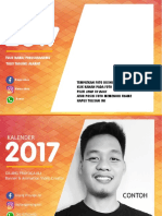 Kalender 2017 Template by Gilang