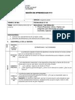 SESION DE APRENDIZAJE N°01 -GEOGRAFIA- 2Do. SECUNDARIA