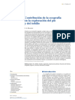 Contribución de La Ecografía en La Exploración Del Pie y Del Tobillo 2017